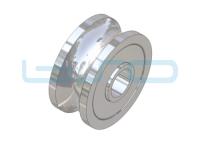 Laufrolle mit Rundschliff für Welle 10mm