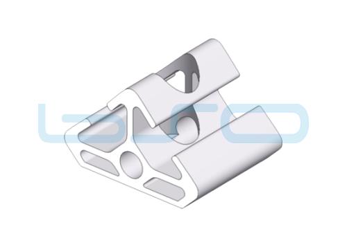 Winkel-Profilelement Nut 8 Raster 30 L=30mm 2x45 Grad