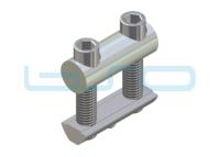 Profilverbinder Raster 40 L=40mm M8 Edelstahl potentialausgleichend
