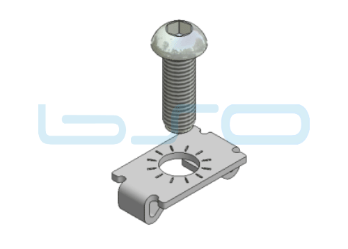 Standardverbinder Nut 8 selbstformende Schraube potentialausgleichend