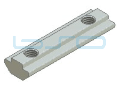 Nutenstein schwer Nut 8 Raster 40 Gewinde 2xM8 L=60mm