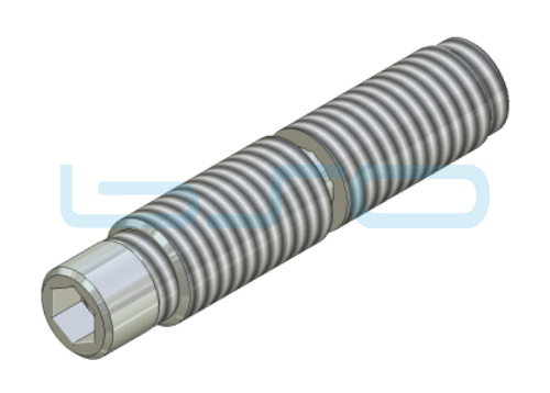 Combi-Einschraubverbinder Nut 6 Stoßverbinder 180°