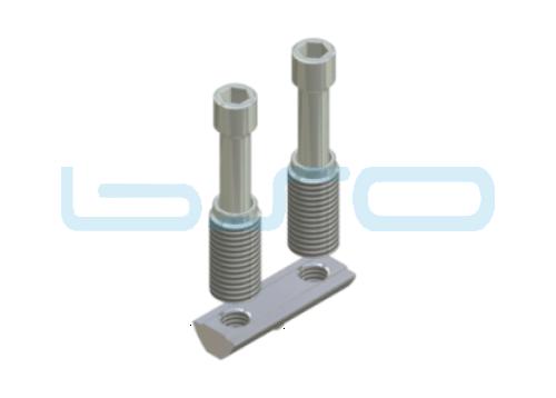 CEV-Verbinder Nut 8 doppelt Raster 40 Nutenstein L=40mm Potentialausgleichend