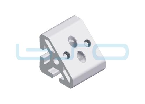 Winkel-Profilelement Nut 8 Raster 30 L=30mm 45 Grad