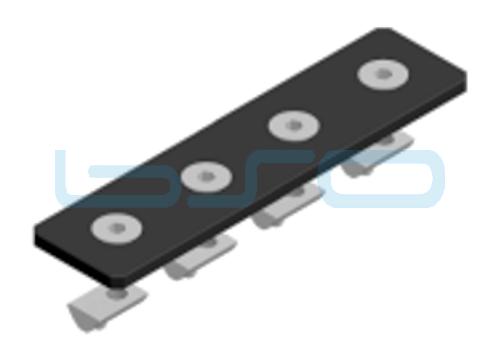 Verbindungslasche-Set Stahl Nut 6 30x120x4