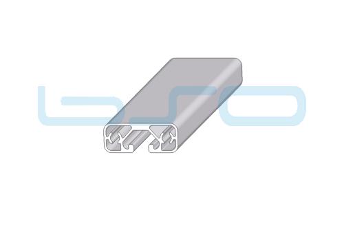 Alu-Profil Nut 8 40x16 ECO leicht 1-seitig abgedeckt