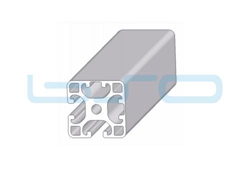 Alu-Profil Nut 8 40x40 leicht 2 Nuten geschlossen 90°