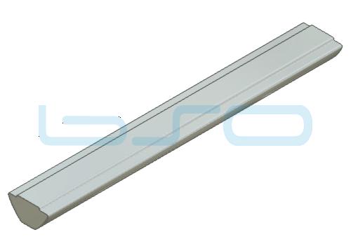 Nutensteinprofil Nut 8 Raster 40 u. 30 Profilstab L=500mm mit Zentrierung