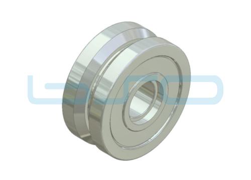 Laufrolle Stahl D-32-V 90°