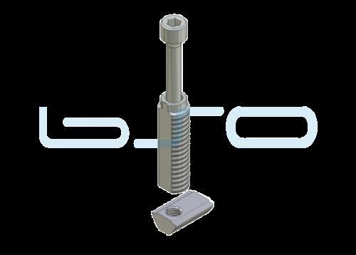Combi-Einschraubverbinder Nut 5 mit Nut 6 Raster 30