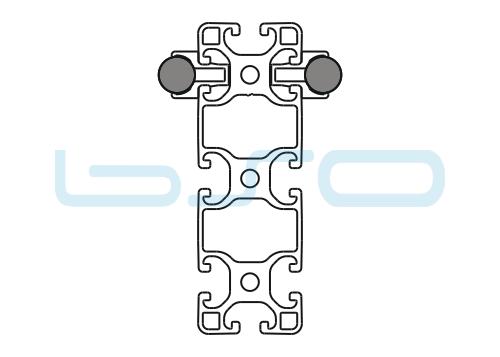 Schlitten Trägersystem W 14 Profil 40x120 leicht-v