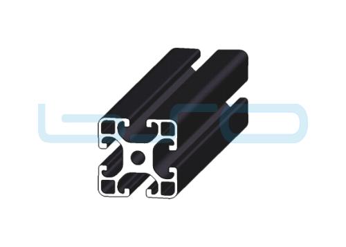 Profil 40x40 Leicht, schwarz eloxiert