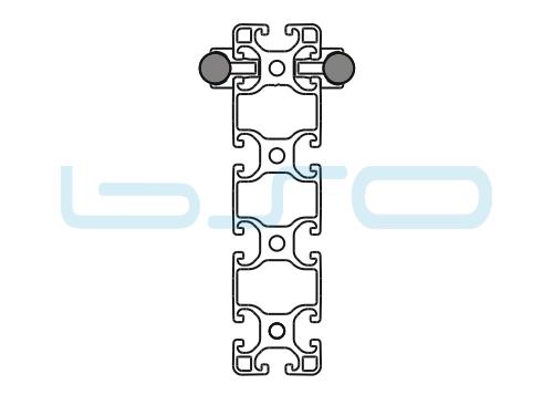 Schlitten Trägersystem W 14 Profil 40x160 leicht-v