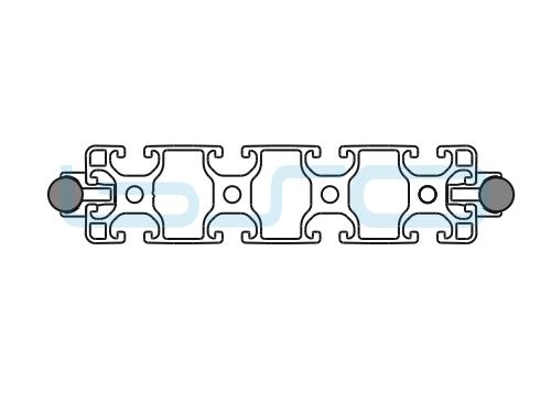 Schlitten Trägersystem W 14 Profil 40x160 leicht-h