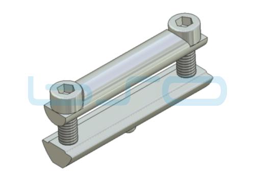 Profilverbinder Nut 8 Raster 30 L=60mm Gewinde M6