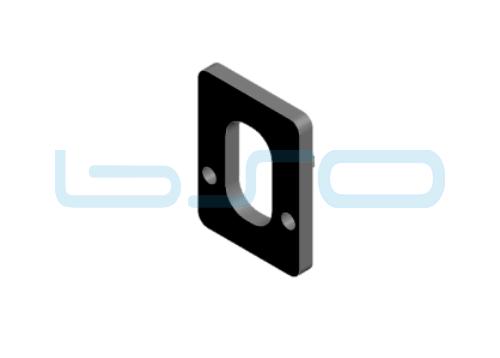 Distanzplatte für Klemmblock 2mm Nut 8 R40 u. 30 oder Nut 10