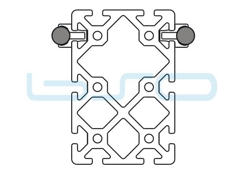 Schlitten Trägersystem Welle 14 Profil 80x120 schwer-v