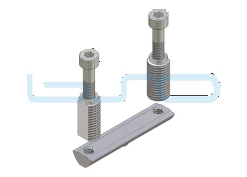 CEV-Verbinder Nut 8 doppelt Raster 30 Nutenstein L=30mm potentialausgleichend