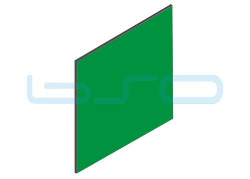 Vollkunststoffplatte grün beidseitig Melaminharz beschichtet 4mm