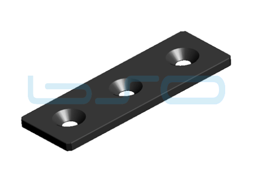Verbindungslasche Stahl Nut 8 40x120